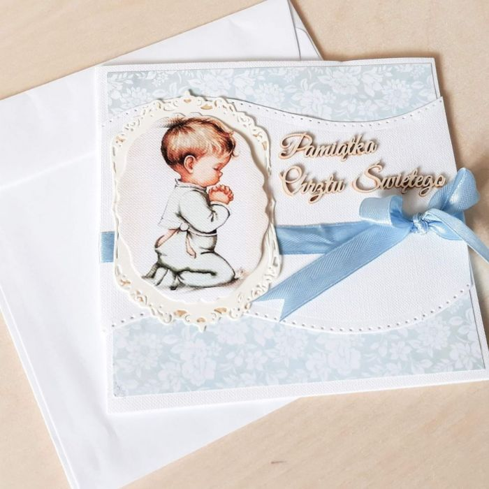 Kartki na chrzest,kartka na chrzest- chłopiec - Kartka na chrzest dla chłopca