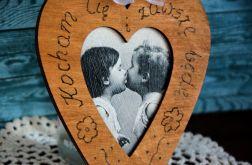 Serduszko drewniane - Pocałunek