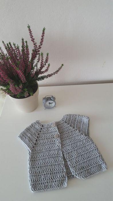 Sweterek popielaty od 3-6 miesięcy