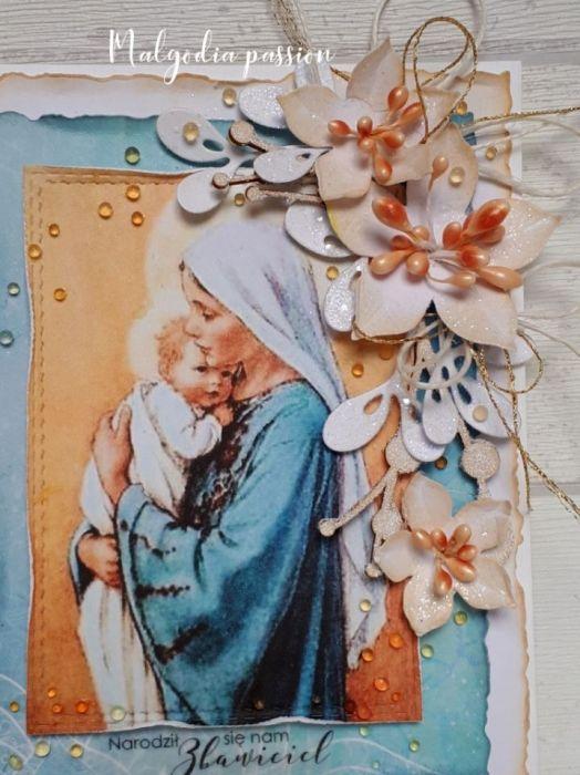 Kartka świąteczna z Maryją i Dzieciątkiem