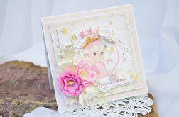 Kartka na roczek dla księżniczki