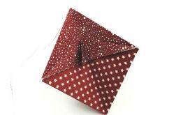 Bombka origami stożek z papieru gwiazdki