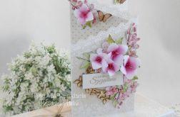 Ślubna kartka kaskadowa w pudełku 01