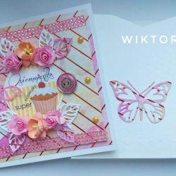 OSIEMNASTKA, kartka dla dziewczyny, urodziny.