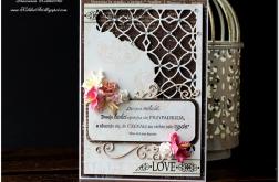 Ażurowy narożnik- ślubna karta #2