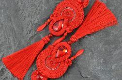 Czerwone kolczyki sutasz z chwostami