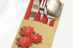 Etui na sztućce dekoracja stołu - wigilia