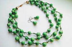 Green - Naszyjnik sznurek i szkło