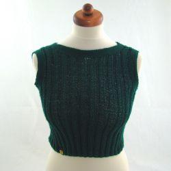 bluzka letnia - butelkowa zieleń