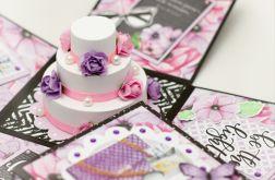Urodzinowy exploding box z tortem na zam.