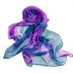 Ręcznie barwiony szal jedwabny /306/ - prezet dla niej