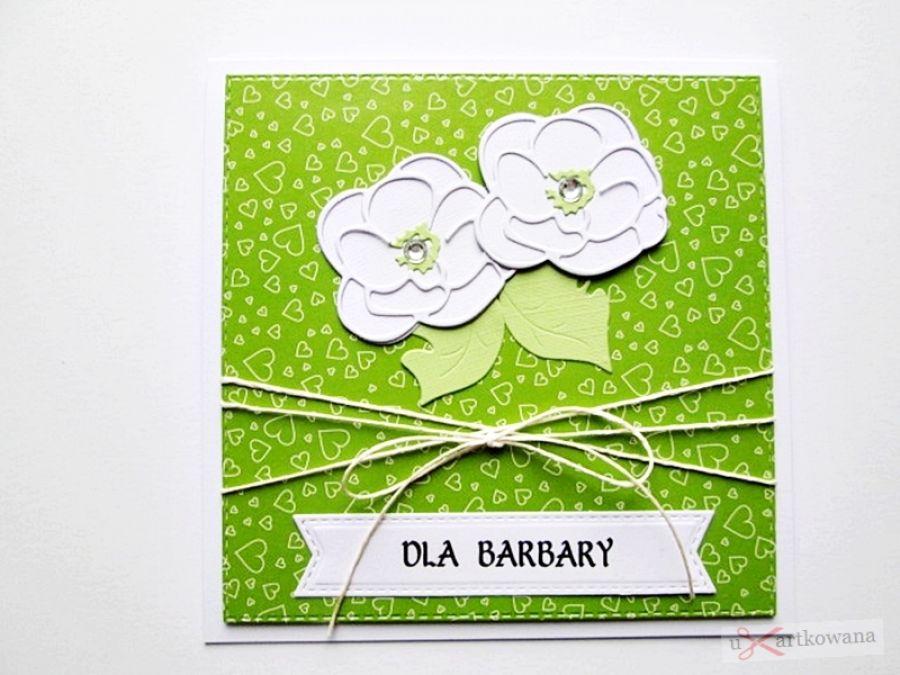 Kartka UNIWERSALNA zielono-biała
