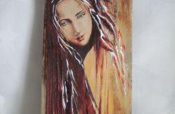Jesienna dziewczyna - obraz na desce