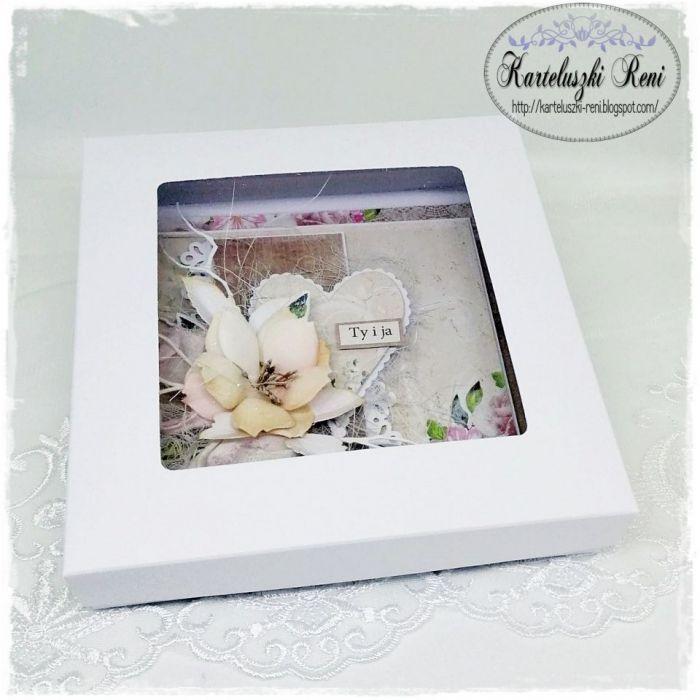 Kartka z sercem - W eleganckim pudełeczku z okienkiem