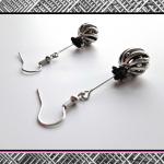 Kolczyki z serii StaLove - kula z różą -