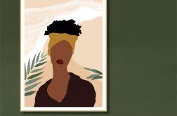 """Grafika """"Afrykańska kobieta"""""""