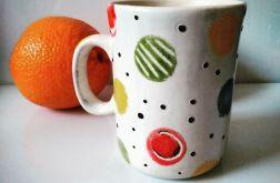 Zestaw 3 sztuk ceramicznych kubków hand made.