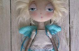 ANIOŁEK lalka dekoracja tekstylna OOAK