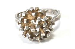 52 pierścionek vintage, srebrny, oryginalny,