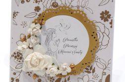 Pamiątka Komunii Św. dla Dziewczynki złota