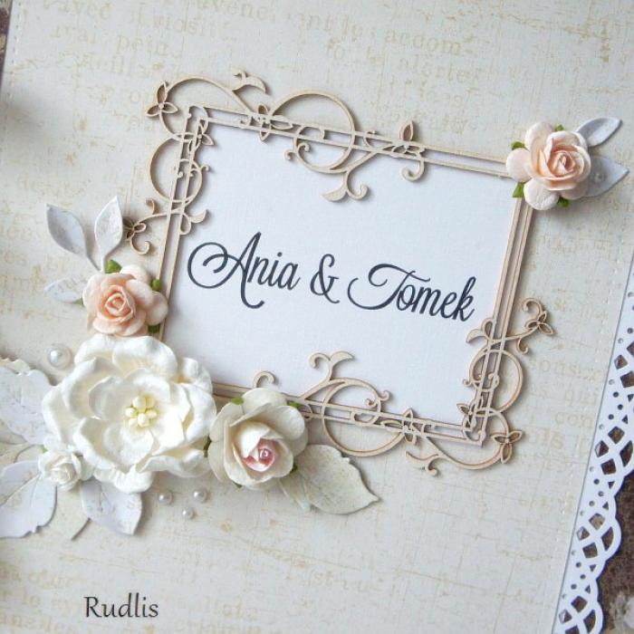 Ślubny album, rocznicowy z motywem róż#2 - null
