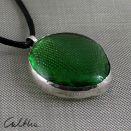 Zielony w srebrze - wisior