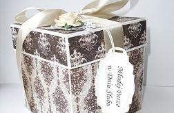Pudełko ślubne w kolorze czekolady