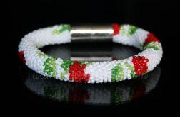 Na górze róże   Beaded Crochet Rope   Bransoletka