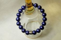 45. Bransoleta z pereł szklanych 10mm