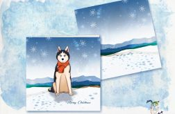 Autorska kartka bożonarodzeniowa z psem