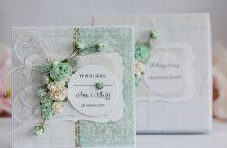 Kartka z pudełkiem - ślub kwiaty