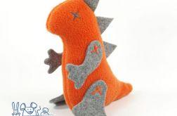 Mini dinozaur pomarańczowo-szary
