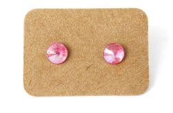 Małe kolczyki różowe