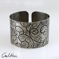 Zawijasy - metalowa bransoleta 141113-05