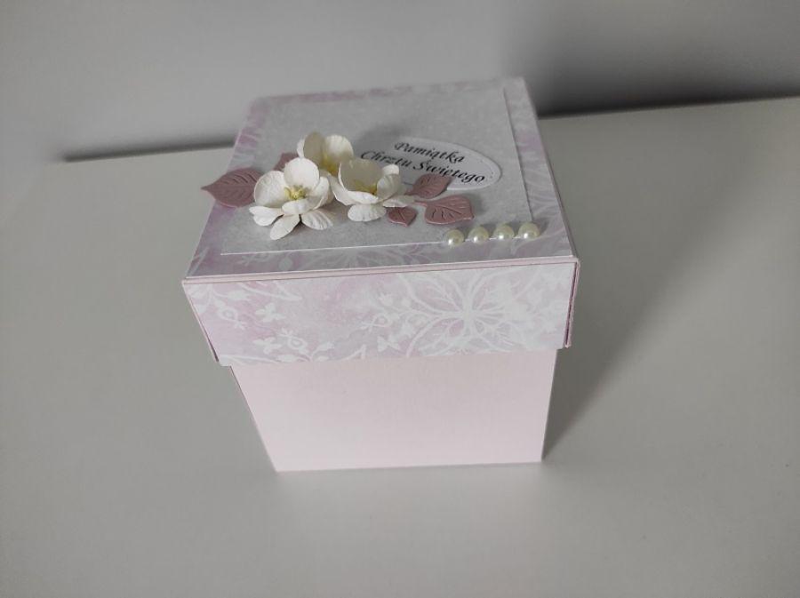 Exploding box pudełko na Chrzest kołyska