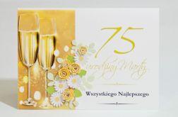 Kartka na 75 urodziny