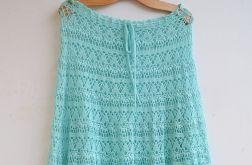 Szydełkowa spódnica w kolorze cyjanu