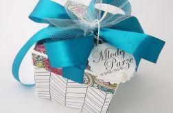 Pudełko na ślub Morski Witraż