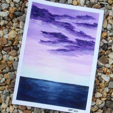 Akrylowe obrazy na papierze - pejzaż