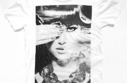 Biała koszulka z nadrukiem - rozmiar XXL