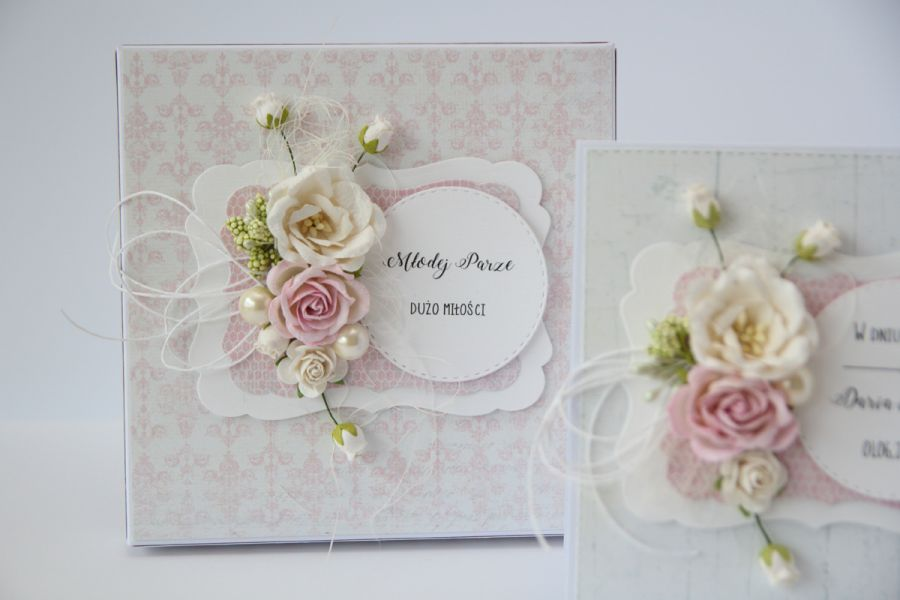 Kartka ślubna z personalizacją i pudełko S3