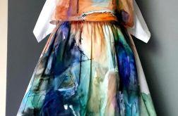 recznie malowana sukienka wenecja