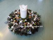 Świąteczny stroik, świecznik, wianek 37cm -