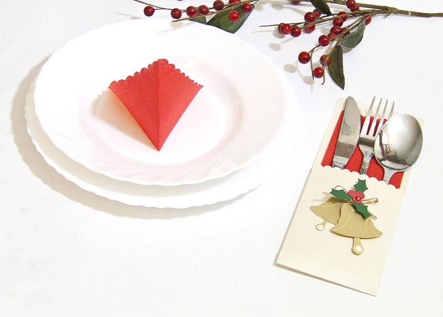 Etui na sztućce Boże Narodzenie - dzwony -