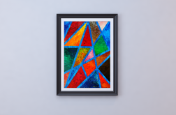 Plakat A2 nIEZAMKNIĘTY kOLOR obraz abstrakcja