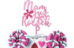 Piętrowy tort z pieluch pampers, prezent na roczek dla dziewczynki