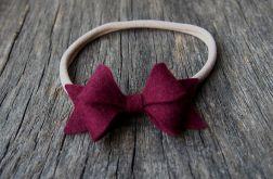 Opaska z kokardką burgund