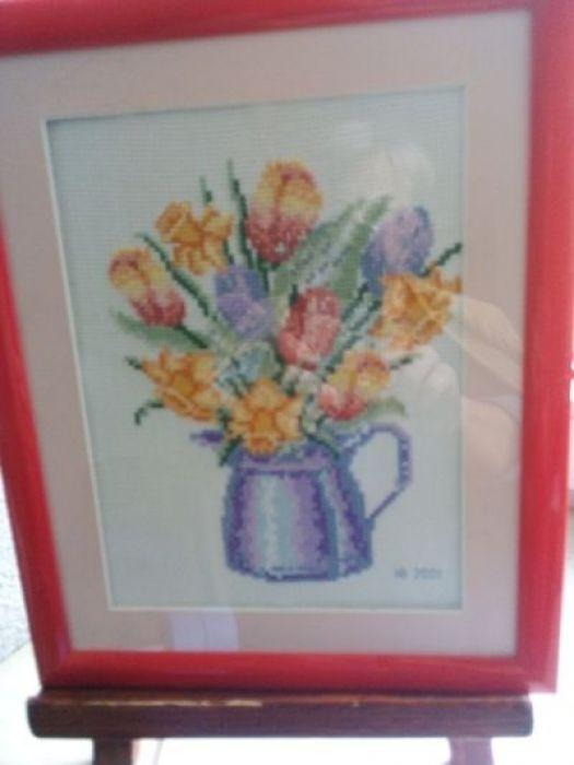 Haftowane tulipany - jedna ze stron poczatkowych ,