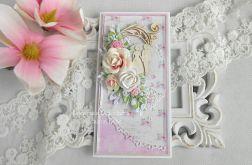 Ślubna kartka DL w pudełku 129