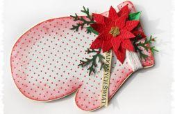 Rękawica - kartka świąteczna